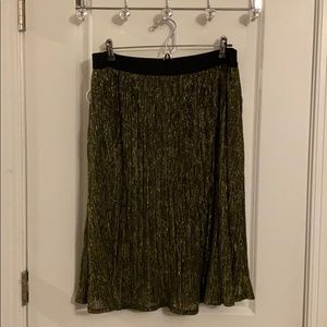 Ava & Viv skirt gold and black